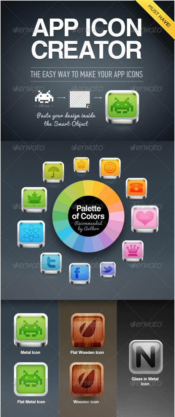 GraphicRiver App Icon Creator 1605190