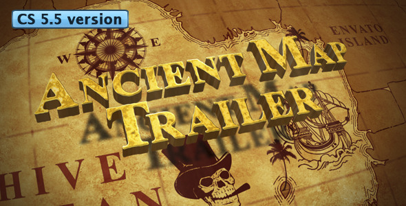 After Effects Project - VideoHive Ancient Map Trailer 1017854