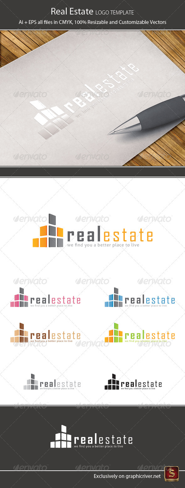 GraphicRiver Real Estate Logo Template 1605806