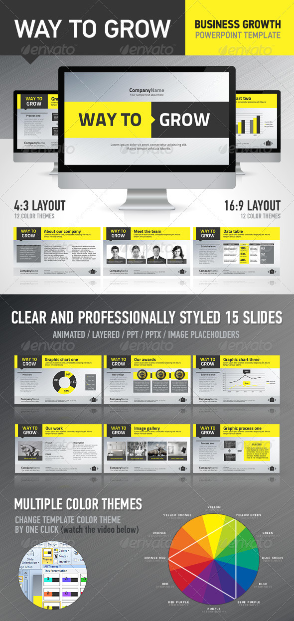 GraphicRiver WayToGrow Presentation Template 1606310