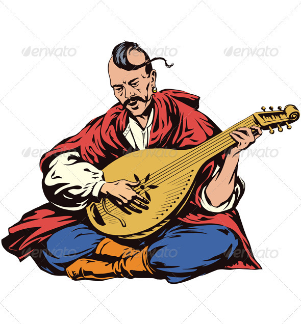 GraphicRiver Cossack Musician 1553641