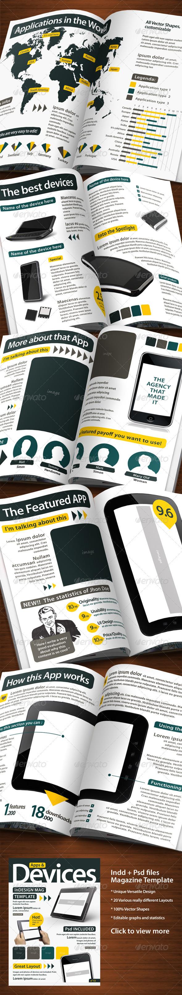 GraphicRiver A4 Fresh Sleek Magazine Template e Infographics 1608561