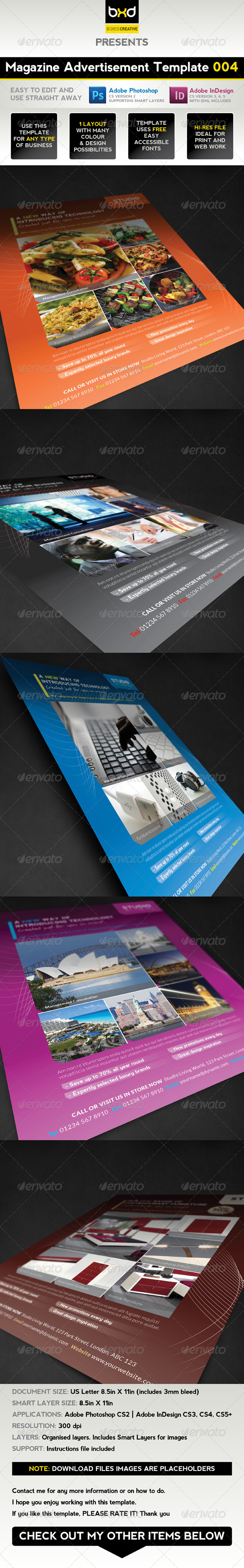 GraphicRiver Magazine Advert Template 004 1608682