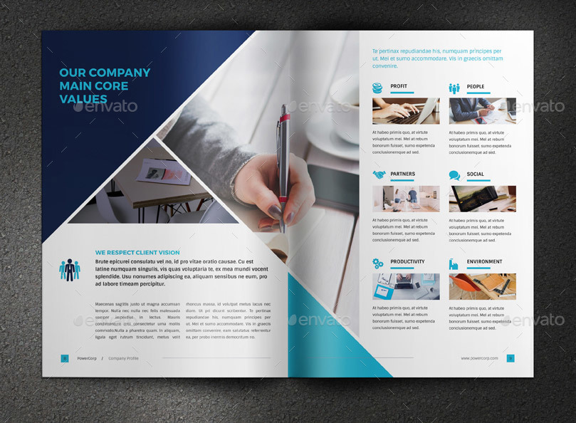 Free Company Profile Template Powerpoint