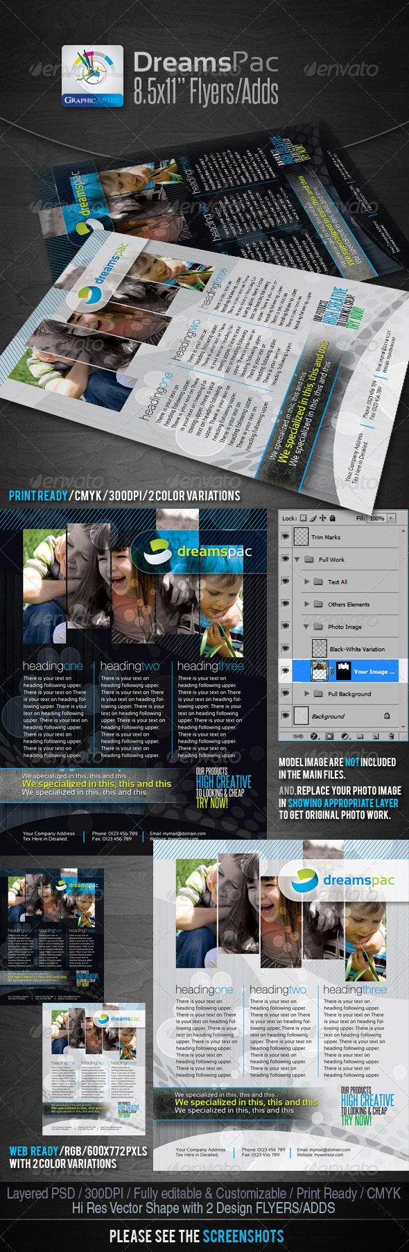 GraphicRiver DreamsPac Flyers Adds For Print Web 1611158