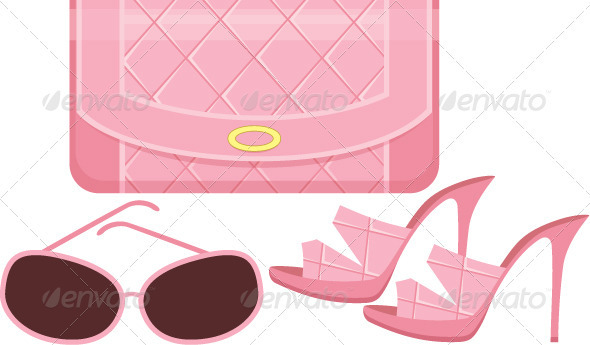 GraphicRiver Female bag shoes and sun glasses 1611347