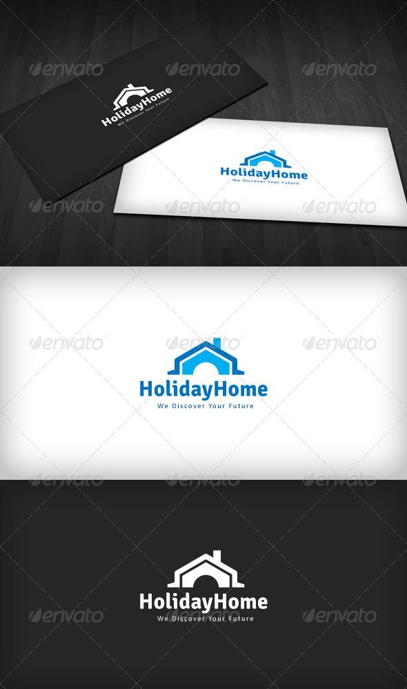GraphicRiver Holiday Home Logo 1612904