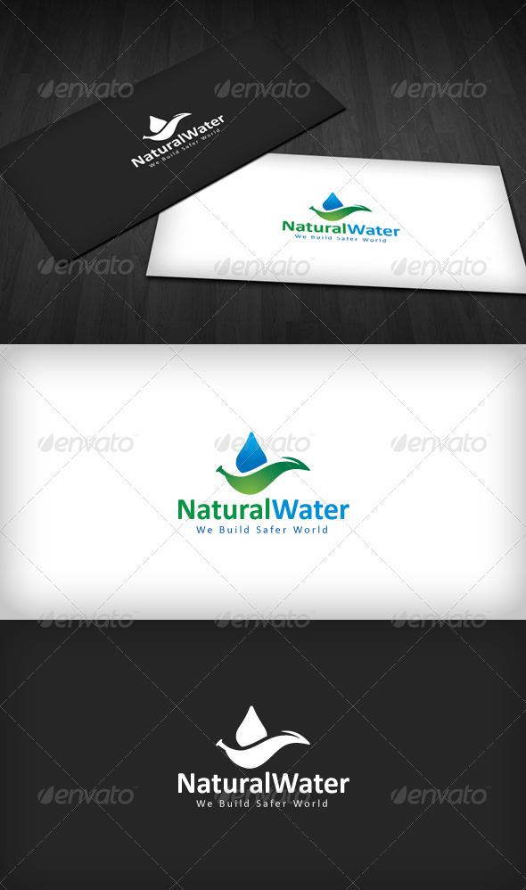 GraphicRiver Natural Water Logo 1612996