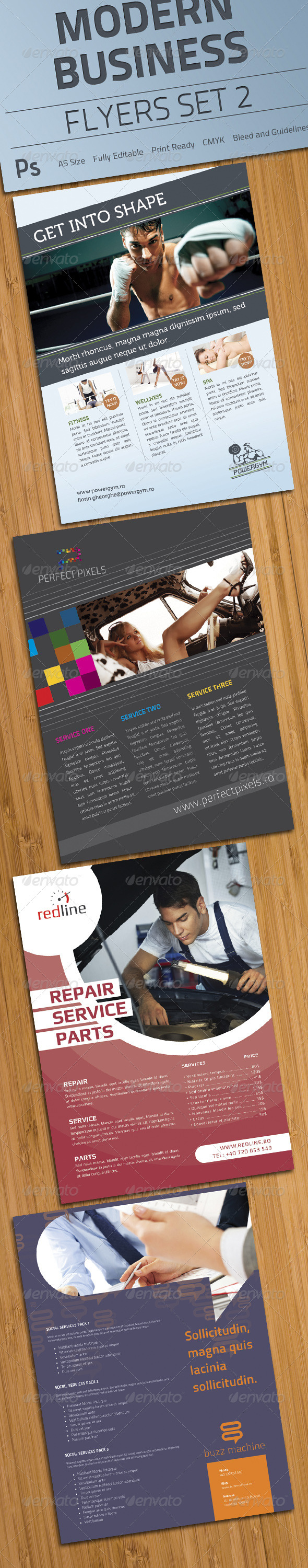 GraphicRiver Modern Business Flyers Set 2 1613064