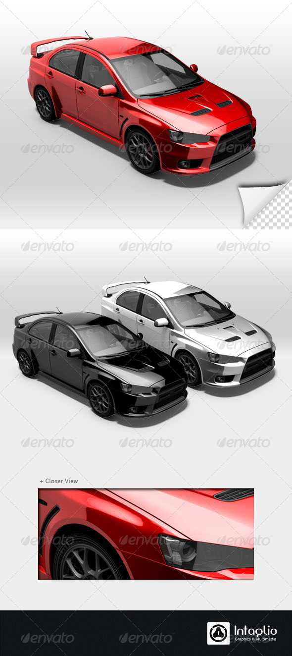 GraphicRiver Red Rally Car Render 003 1613910