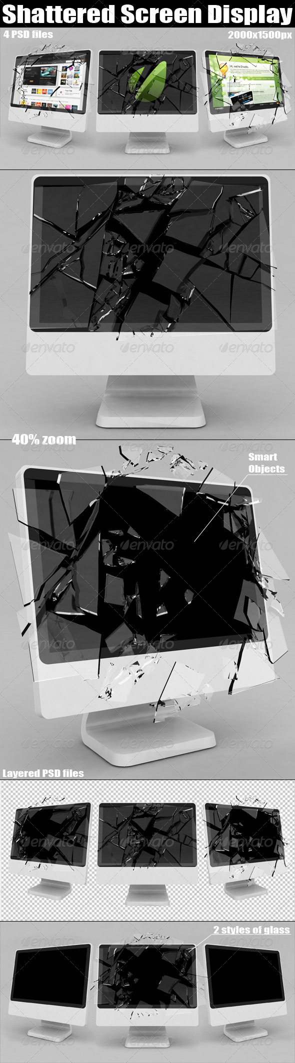 GraphicRiver Shattered Screen Display 1614018