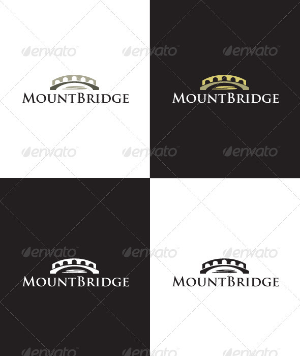 GraphicRiver Mount Bridge Logo 1614635