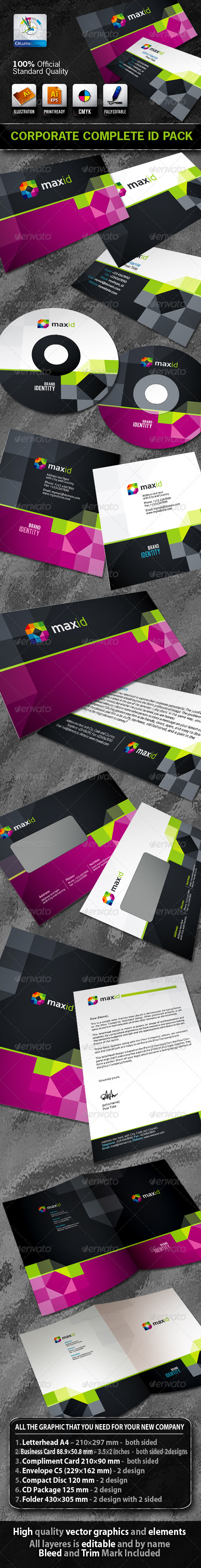 GraphicRiver MaxId Business Corporate ID Pack & Logo 1606300