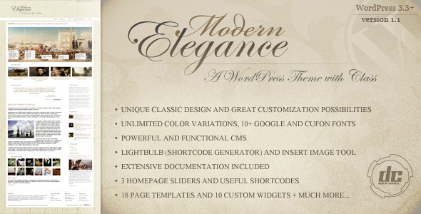 ThemeForest Modern Elegance A WordPress Theme with Class WordPress Creative Portfolio 1603260