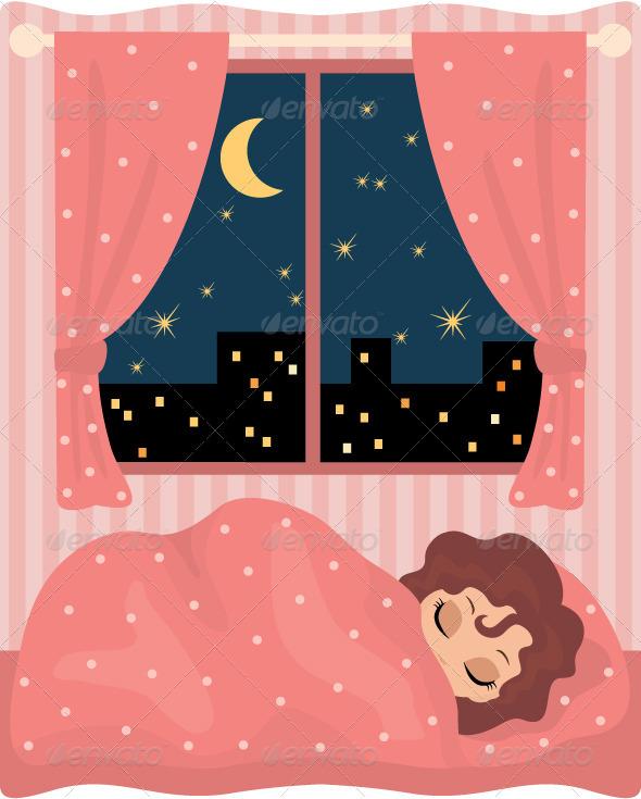 GraphicRiver Pretty girl sleeps 1615267