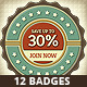 Retro Classic Badges - GraphicRiver Item for Sale