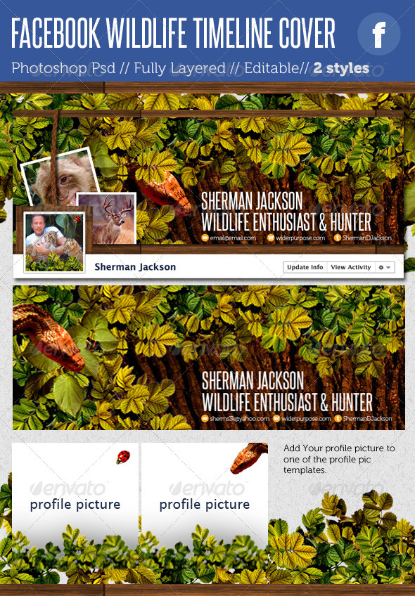 GraphicRiver Facebook Timeline Covers Wildlife 1615990