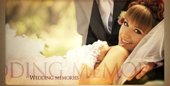 After Effects Project - VideoHive Wedding memories 336170