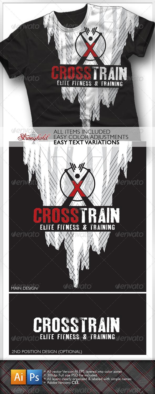 GraphicRiver Cross Training T-Shirt 1616488