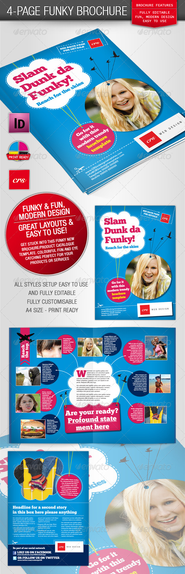 GraphicRiver Funky Brochure Template 1616883