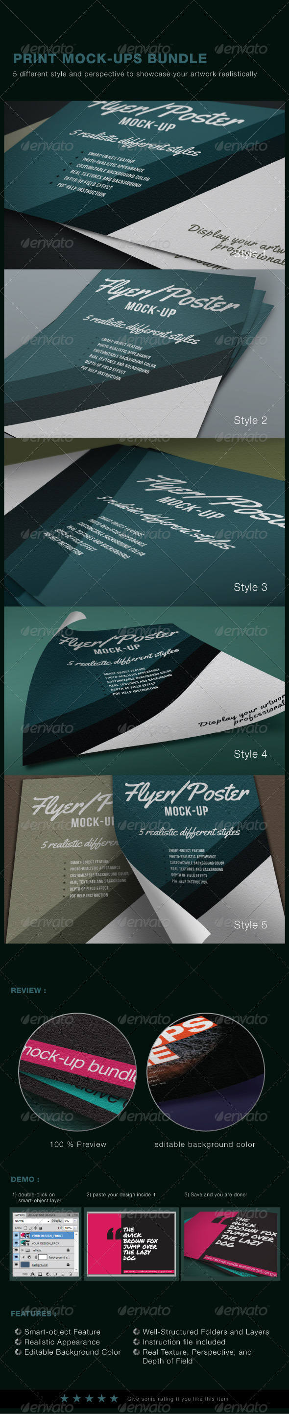Graphic River Print Mock-Ups Set Graphics -  Product Mock-Ups  Print 1526007