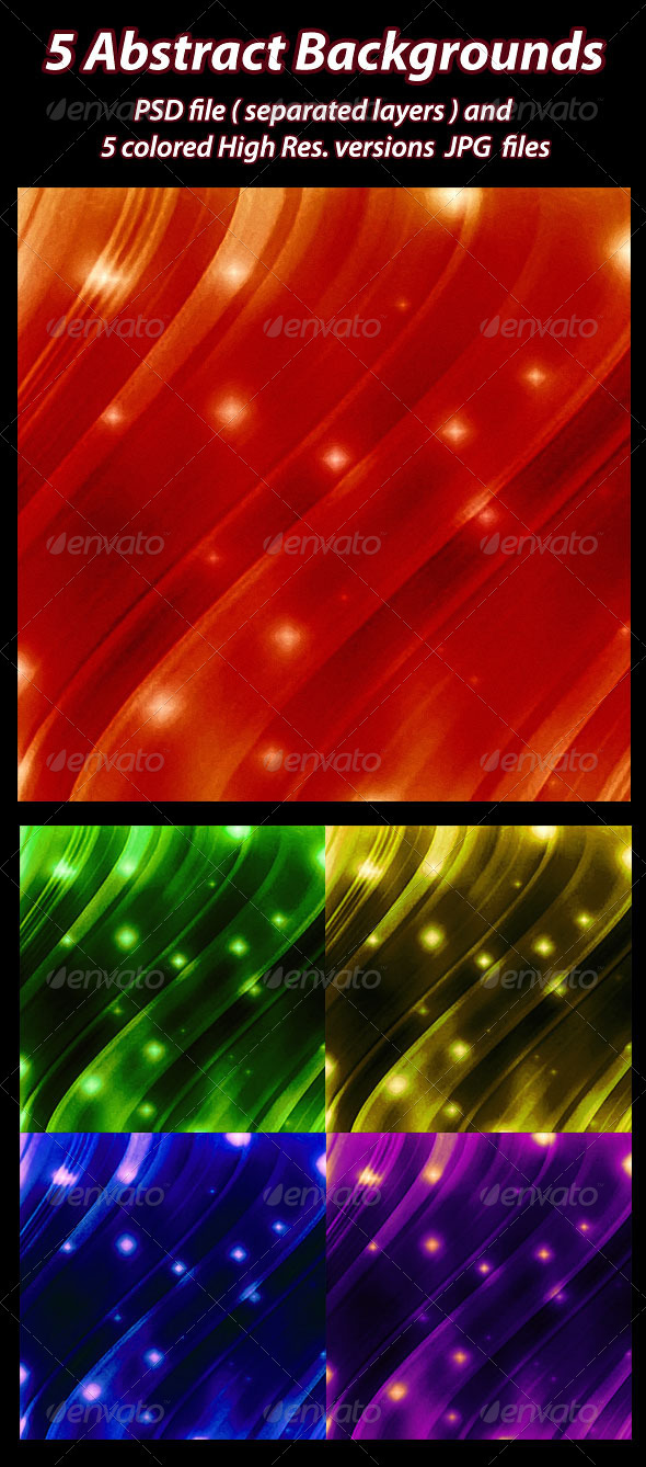 GraphicRiver 5 Abstract Backgrounds 1617875