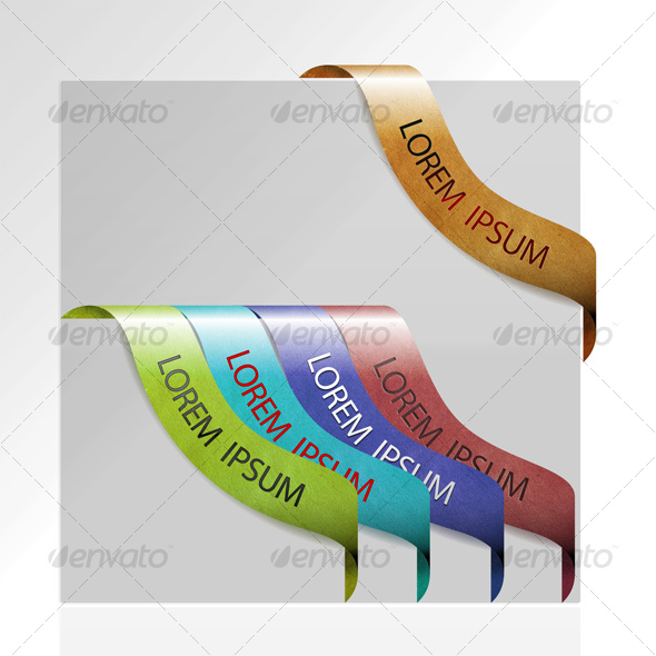 GraphicRiver Vintage Corner Banners 63285