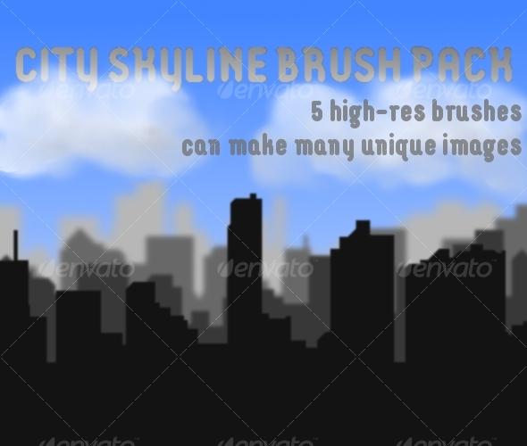 GraphicRiver City Skyline Brush Pack 63289