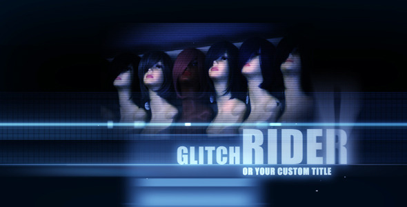 VideoHive Ride On Glitch Titles 1618697