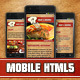 Restaurant Mobile Theme Meat&Recipes - ThemeForest Item for Sale