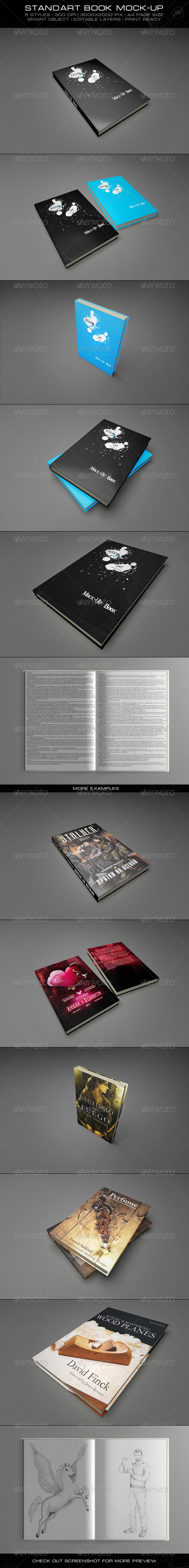 GraphicRiver Standart Mock-Up Book 1602433