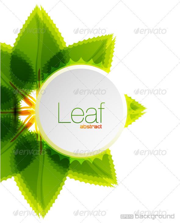 GraphicRiver Leaf vector background design 191049