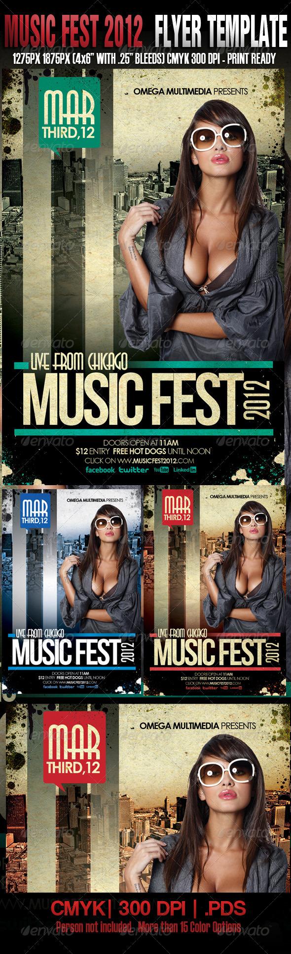 GraphicRiver Music Fest Template 1612850