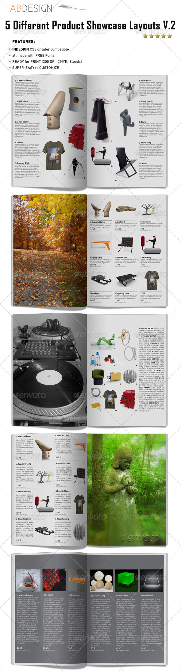 GraphicRiver 5 Different Products Showcase Layouts V.2 232618