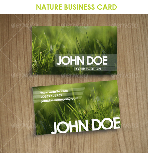 GraphicRiver Nature Business Card 63493