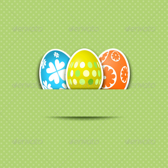 GraphicRiver Cute Easter Egg Background 1626561