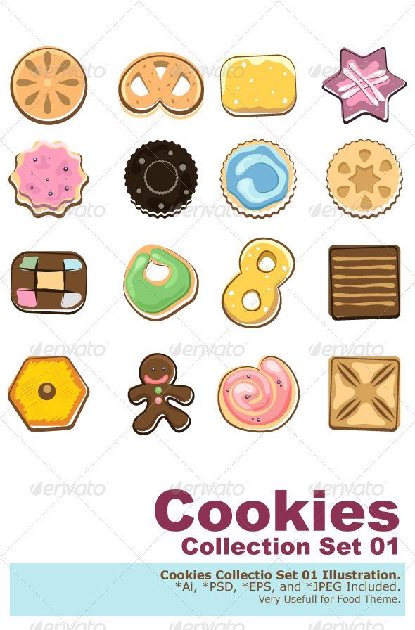 GraphicRiver Doodle Cookies 1627120