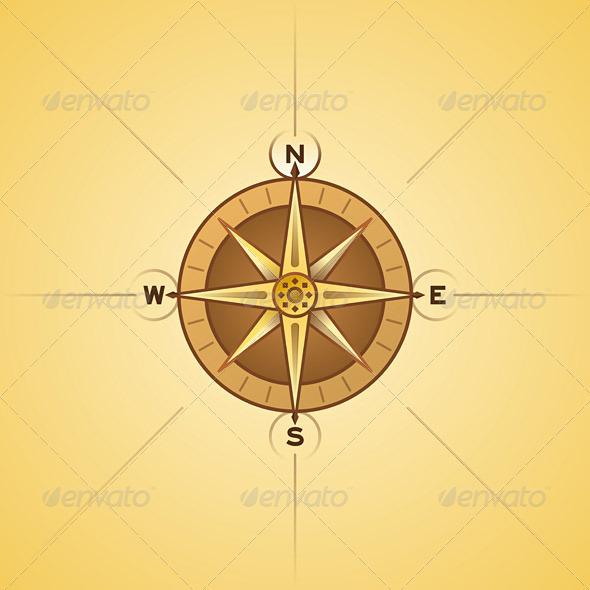 GraphicRiver Nautical Rose Compass 1627188