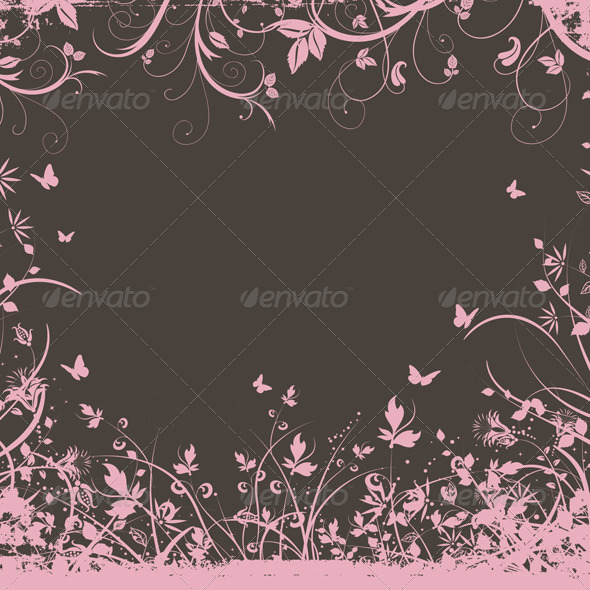 GraphicRiver Floral Background 1627286