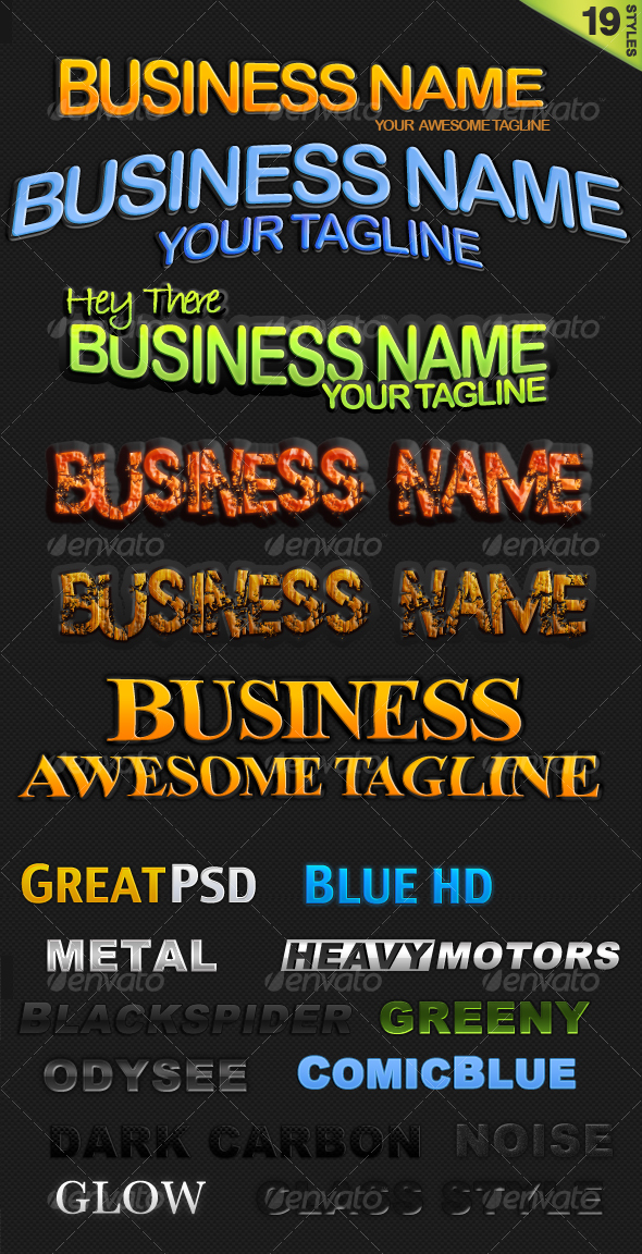 GraphicRiver 19 Text Styles 63589