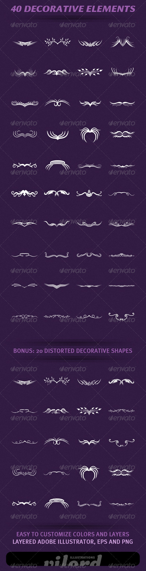 GraphicRiver 40 Decorative Elements 1627581