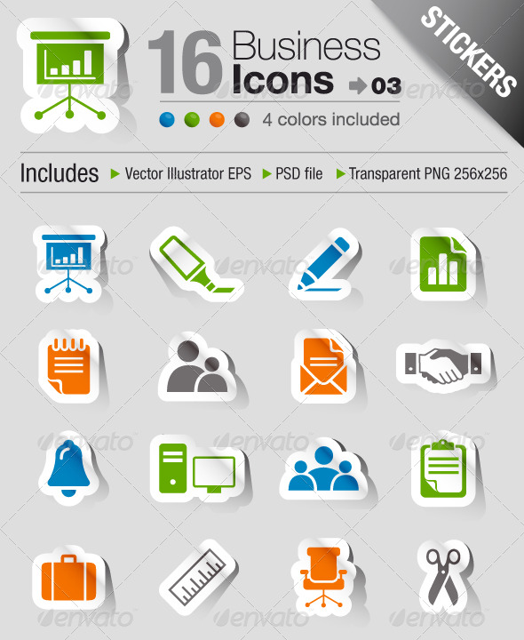 GraphicRiver Stickers Office And Business Icons 03 191640