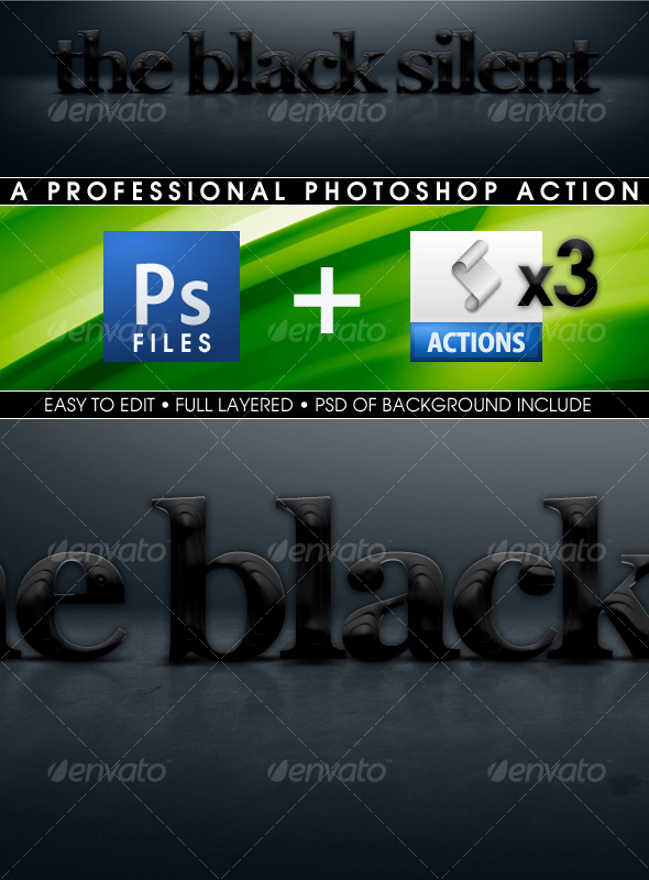 GraphicRiver The Black Silent Actions 61061
