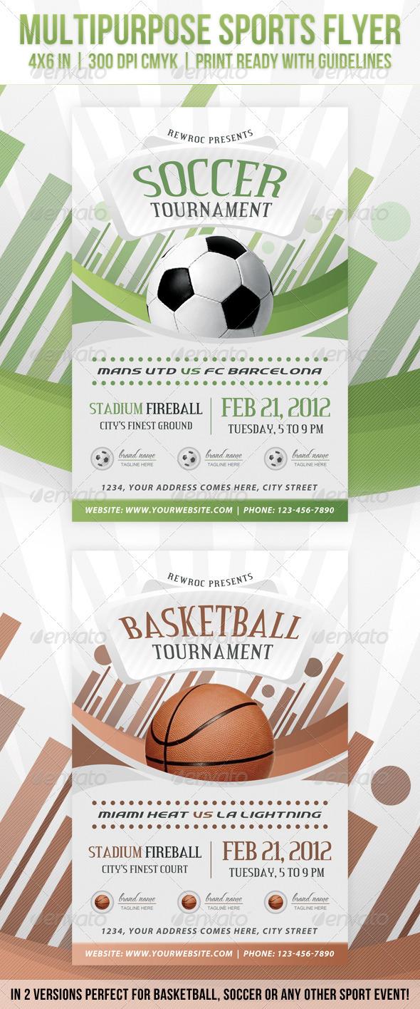 GraphicRiver Multipurpose Sports Event Flyer 1575949