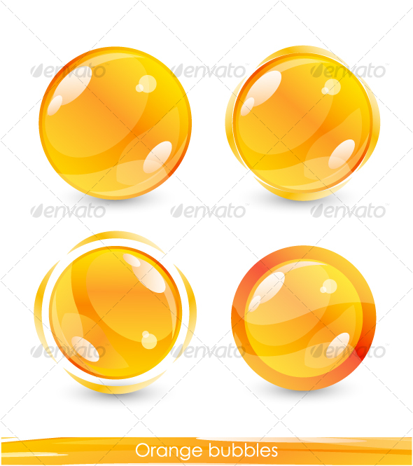 GraphicRiver Orange buttons 63668