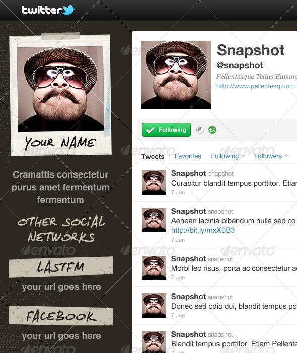 GraphicRiver Snapshot Twitter Background 1620635