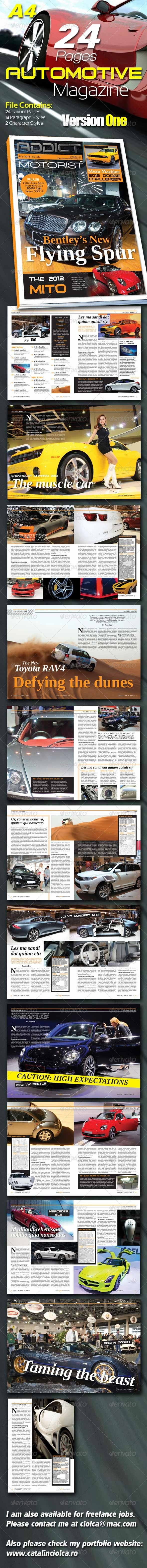 GraphicRiver 24 Pages Automotive Magazine Version One 1517089