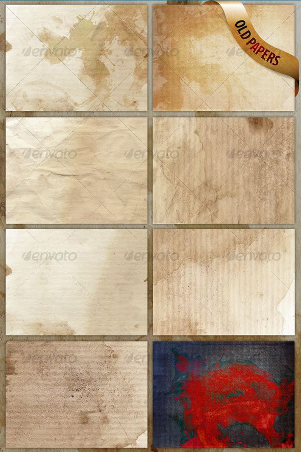 GraphicRiver 8 old paper textures backgrounds 63909