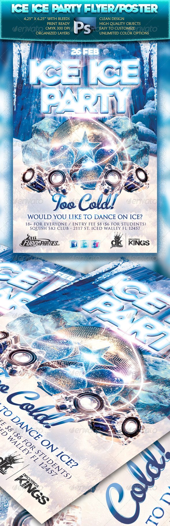 GraphicRiver Ice Ice Party Flyer 1636301