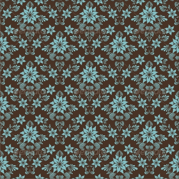GraphicRiver Seamless floral background 64243